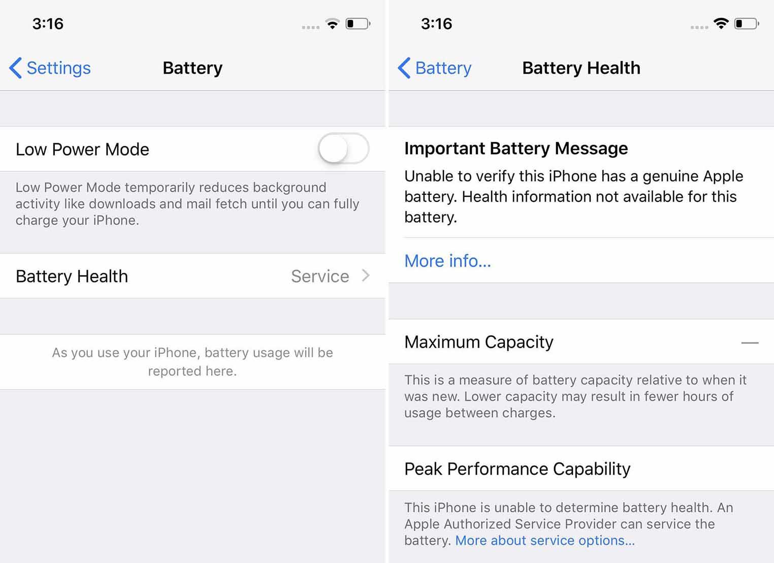 iOS verrou batterie iPhone