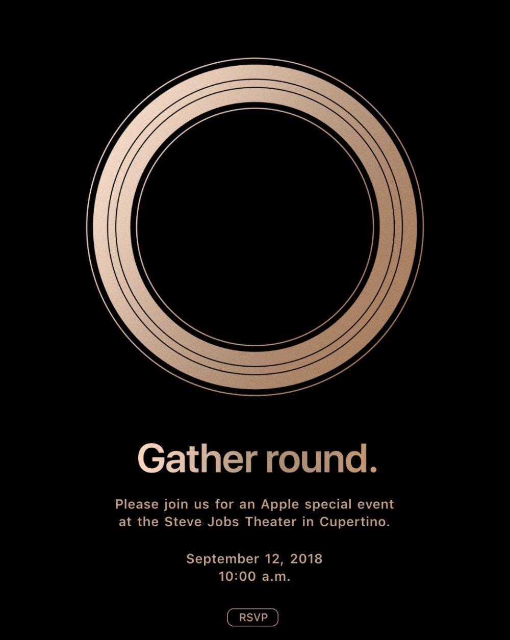 Apple invitation Keynote 12 septembre 2018