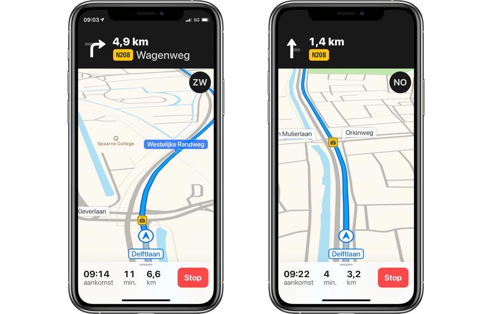 Apple Maps radars Pays-Bas