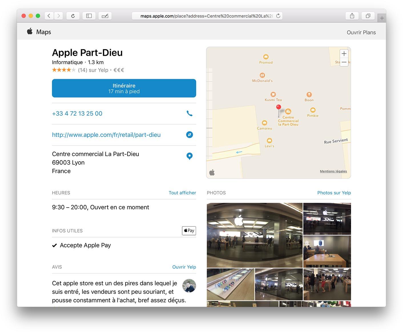 Apple Maps Part Dieu