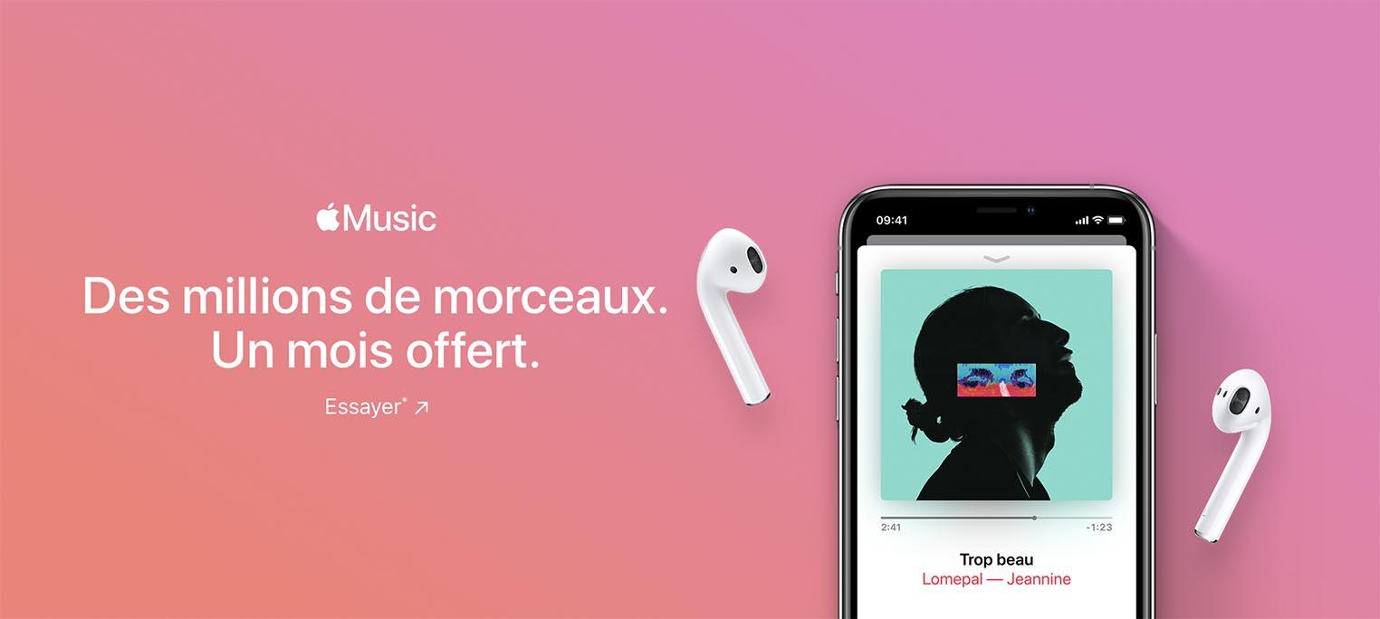 Apple Music essai un mois