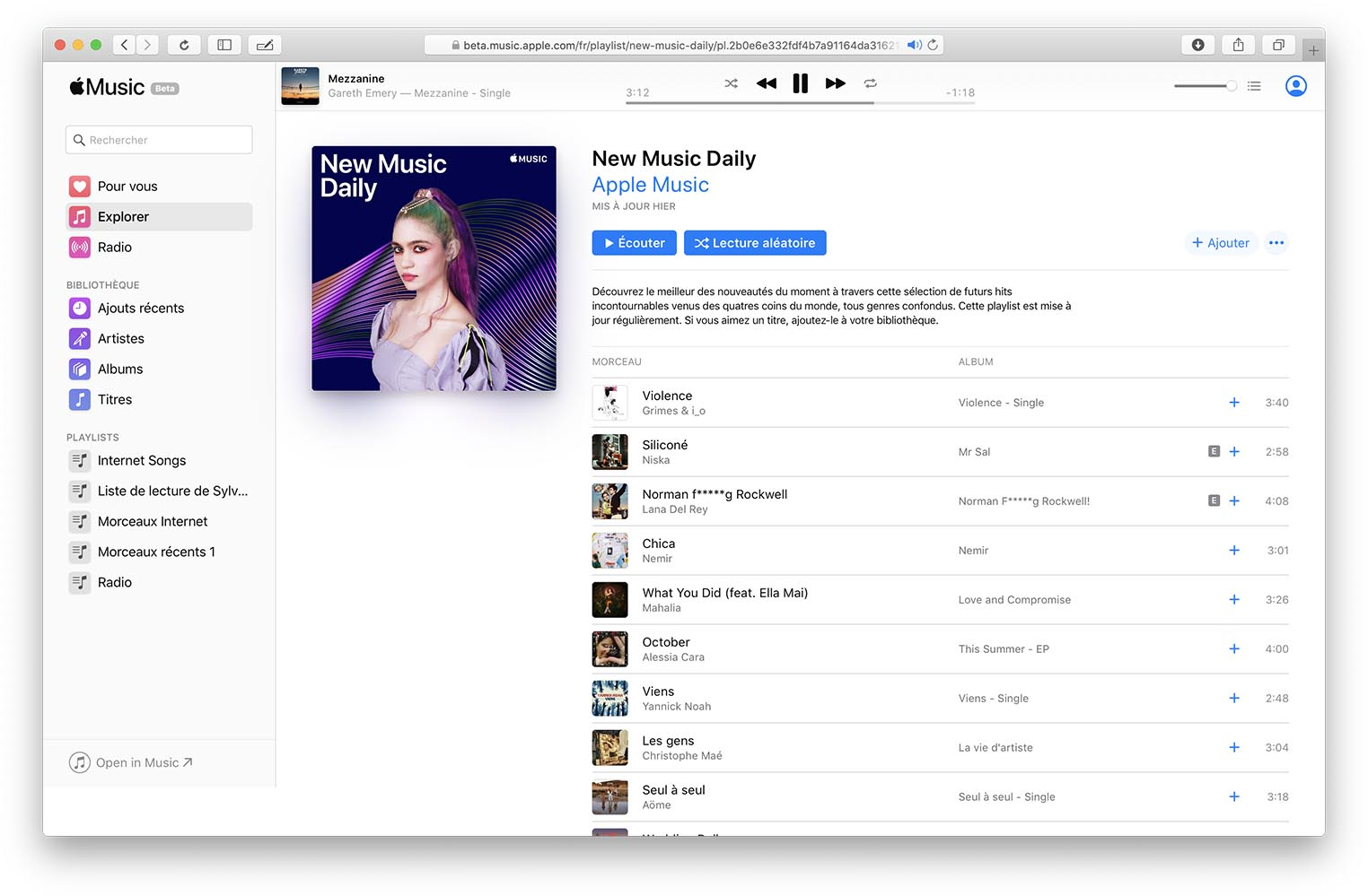 Apple Music web bêta