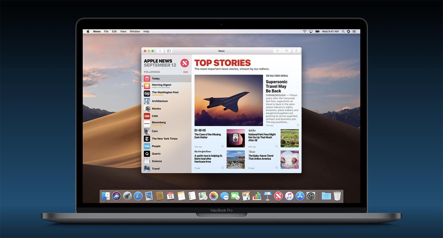 Apple News macOS Mojave