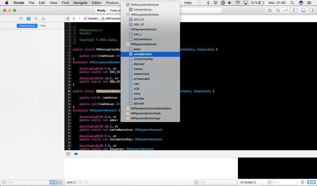 Apple Pay GIE Carte Bancaire Xcode