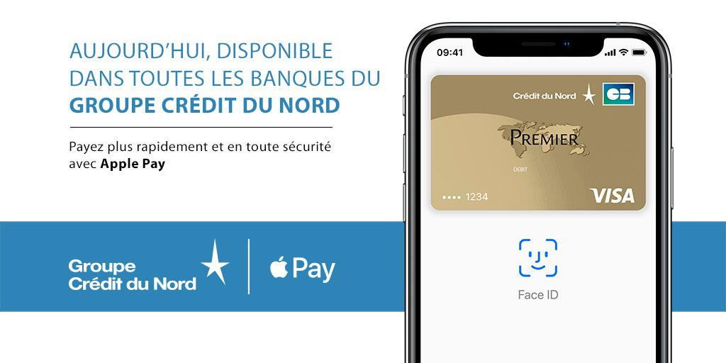 Apple Pay Crédit du Nord