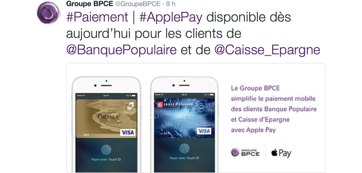 Apple Pay BPCE