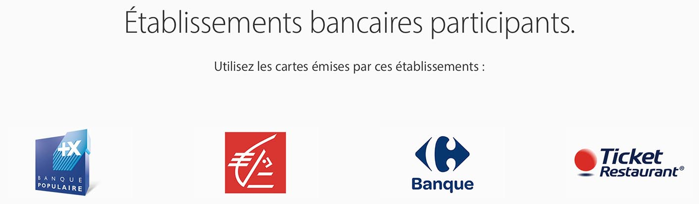 Apple Pay France banques