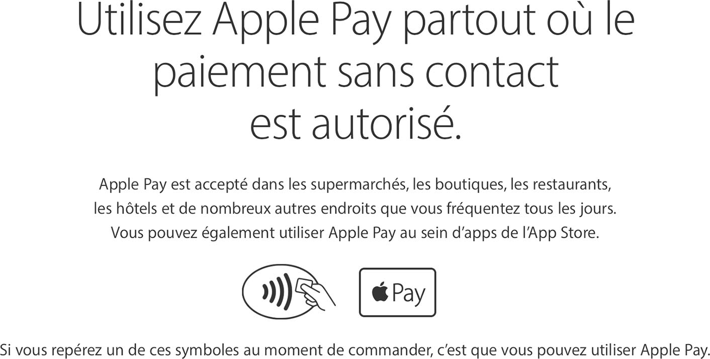 Apple Pay sans contact