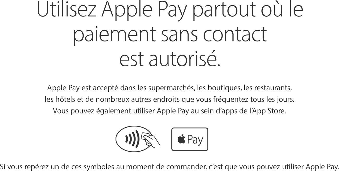 Apple Pay sans contact