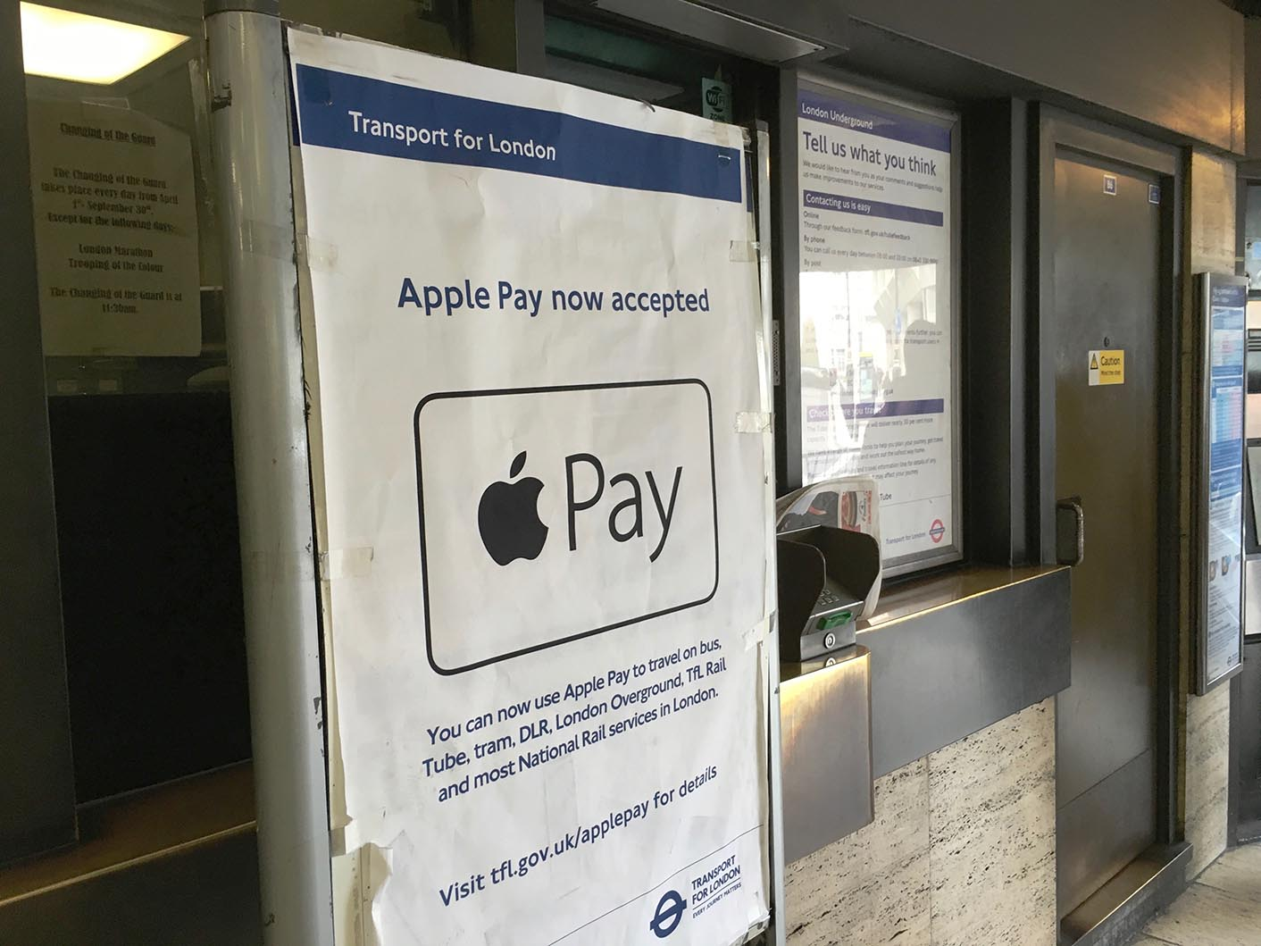 Apple Pay métro Londres