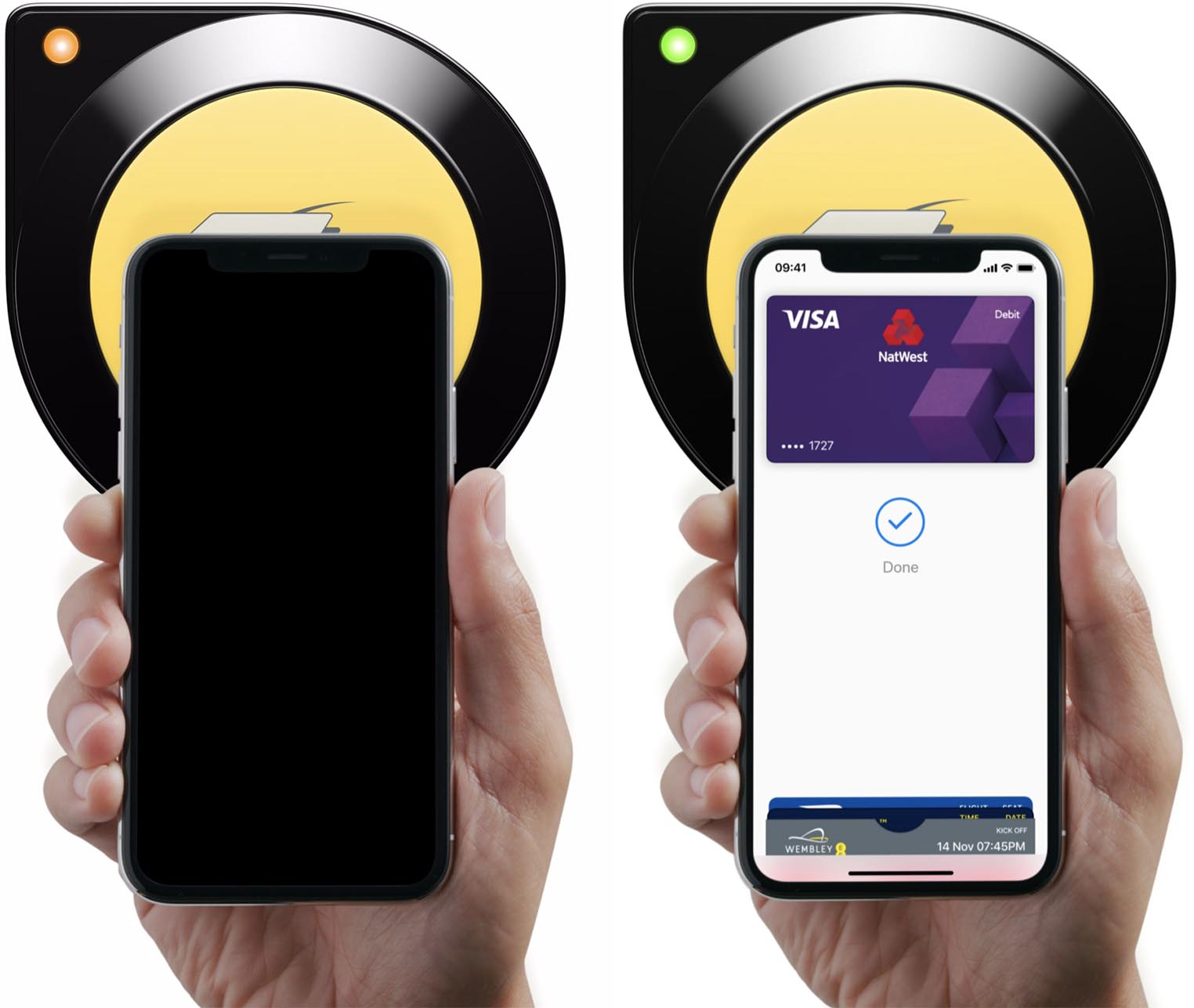Apple Pay mode express Londres