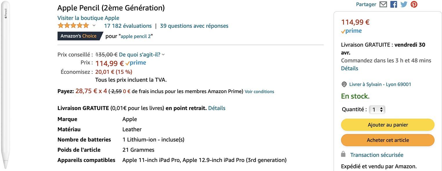 Apple Pencil 2 Amazon