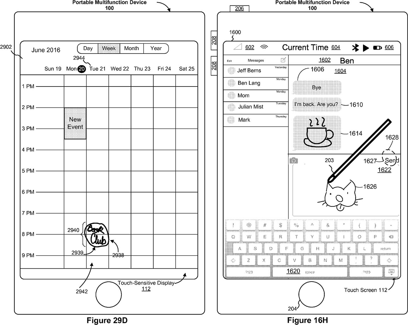 Apple Pencil iPhone brevet