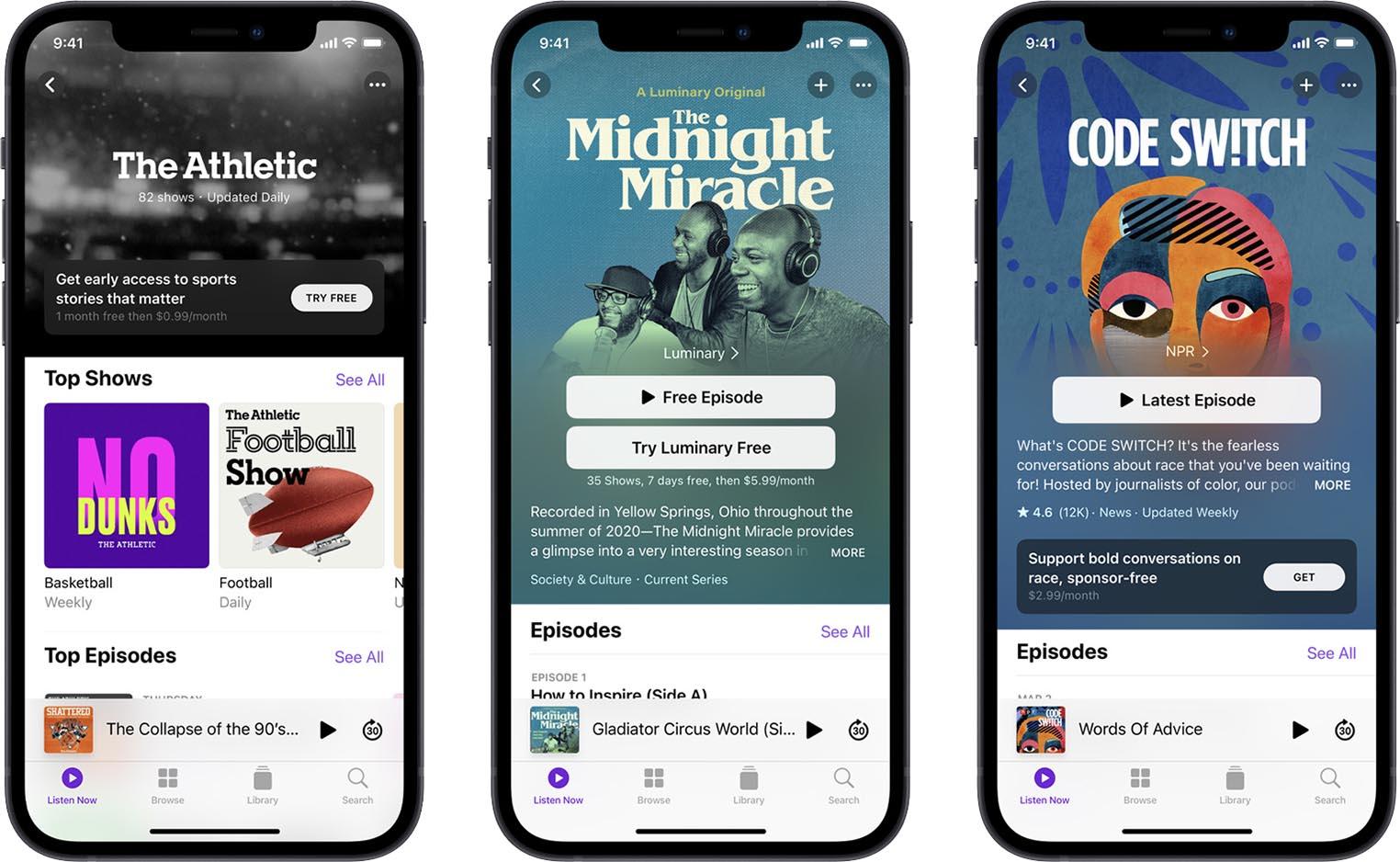 Abonnement Podcasts Apple