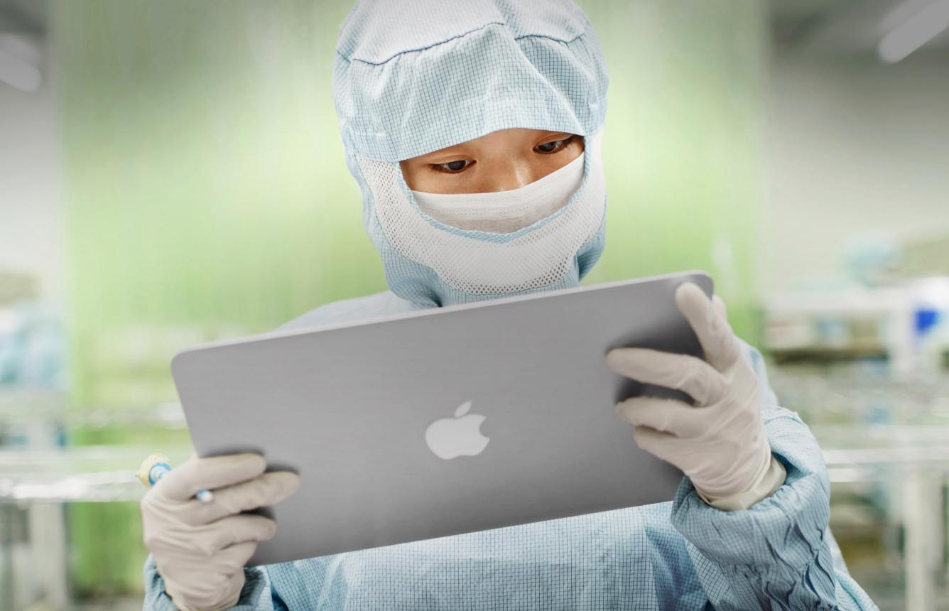 Apple MacBook usine Chine