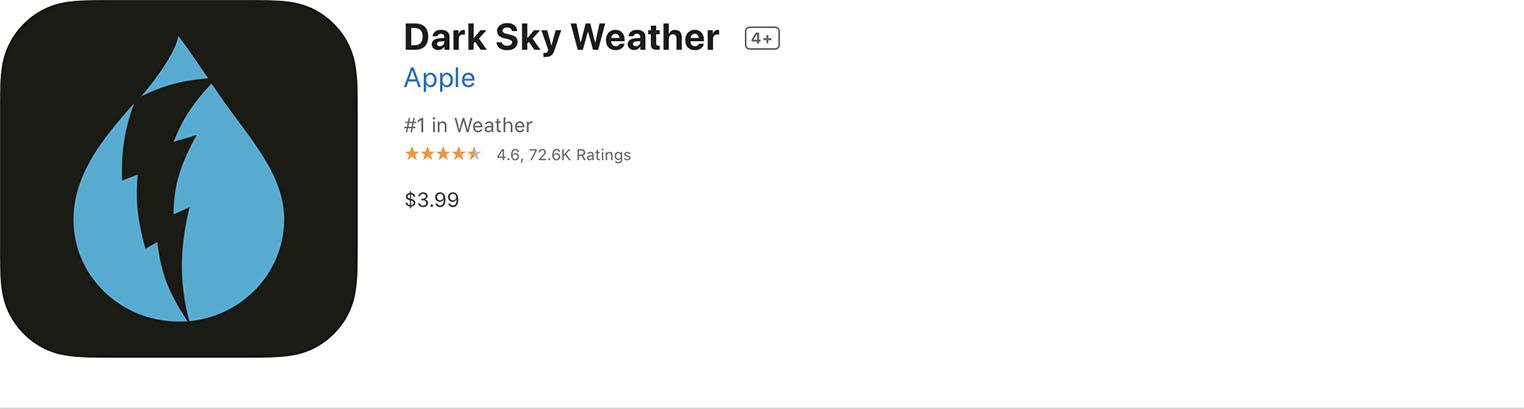 Dark Sky App Store