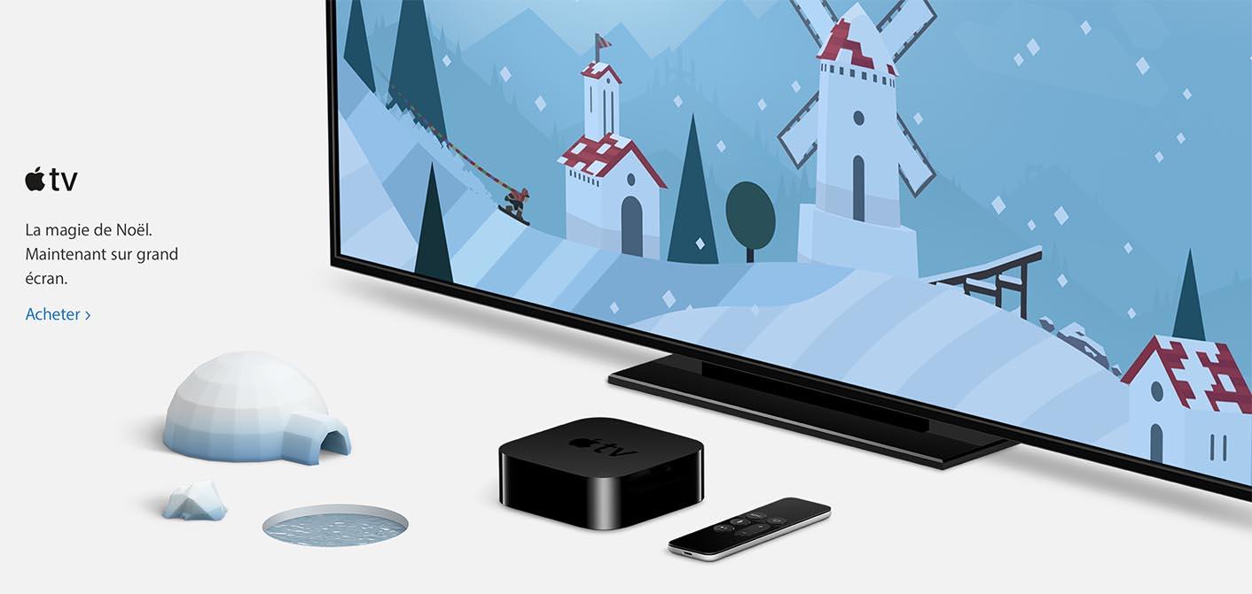 Apple Noël 2016 Apple TV