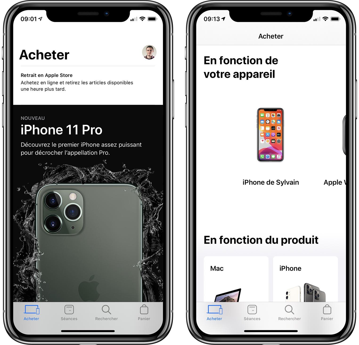 App Apple Store après