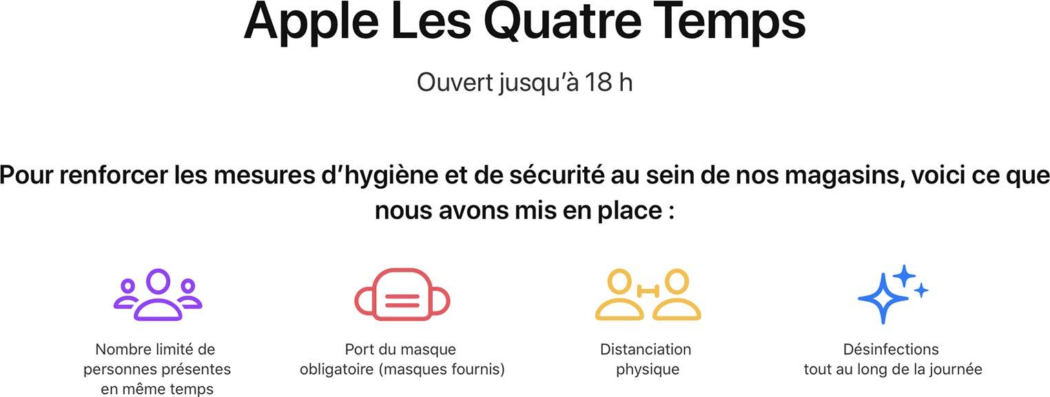 Apple Store Les Quatre Temps réouverture
