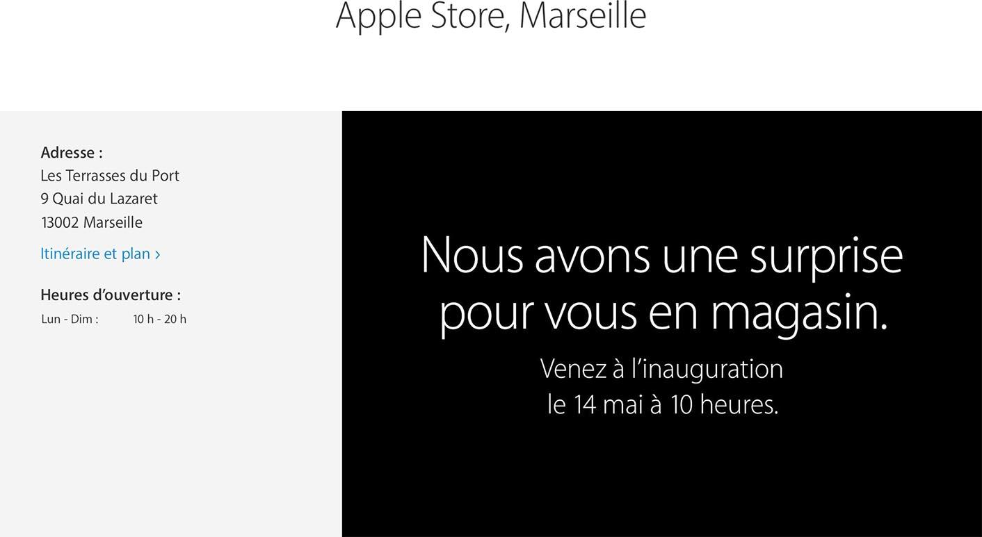 Apple Store Marseille ouverture
