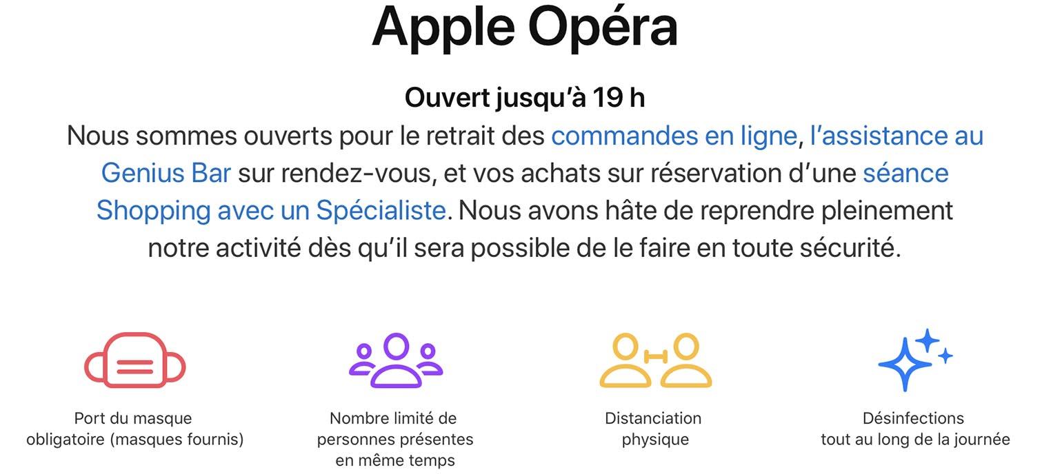 Apple Store Opéra sur rendez-vous
