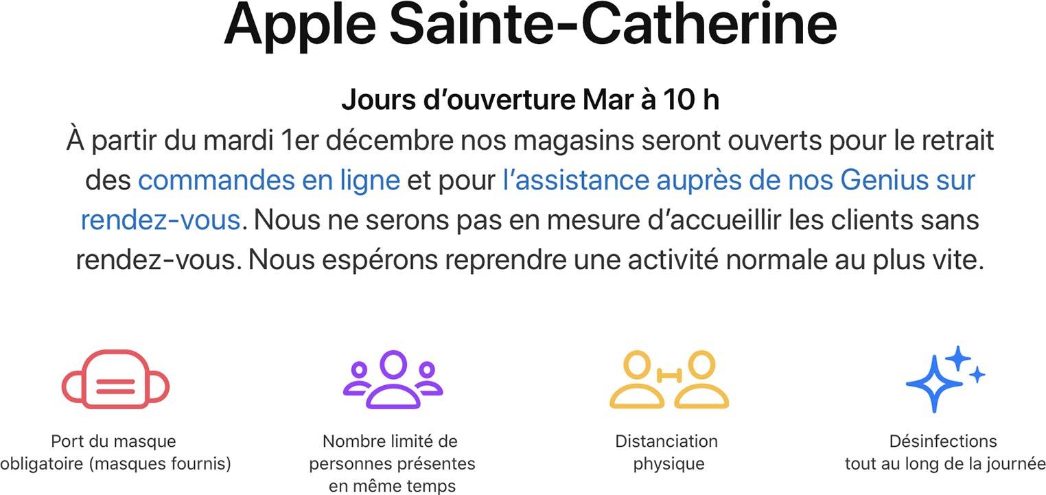 Réouverture Apple Store Sainte-Catherine
