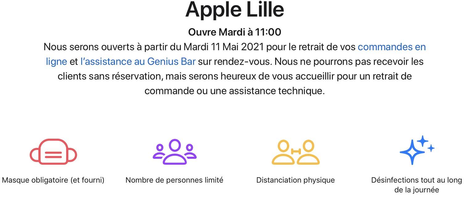 Apple Store Lille réouverture
