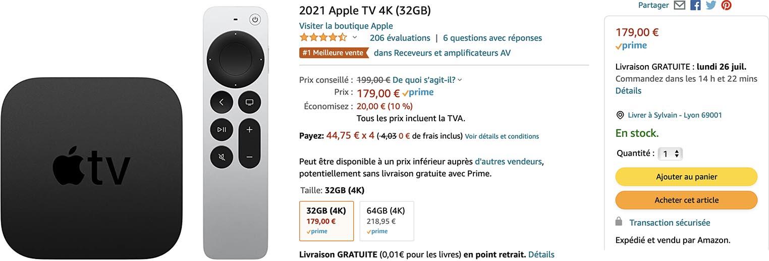 Apple TV 4K Amazon