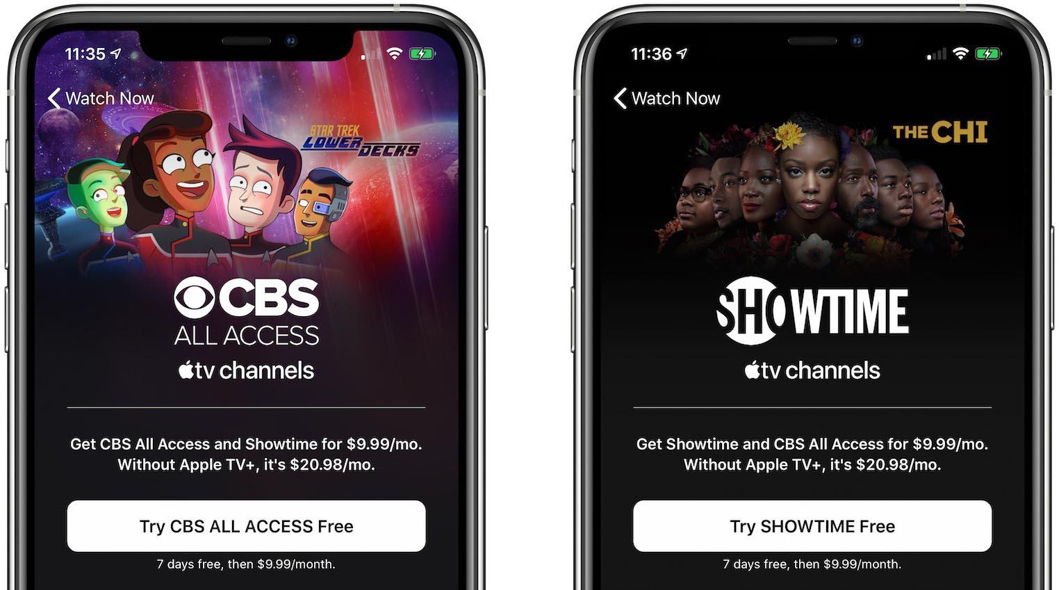 Apple TV+ CBS Showtime bundle