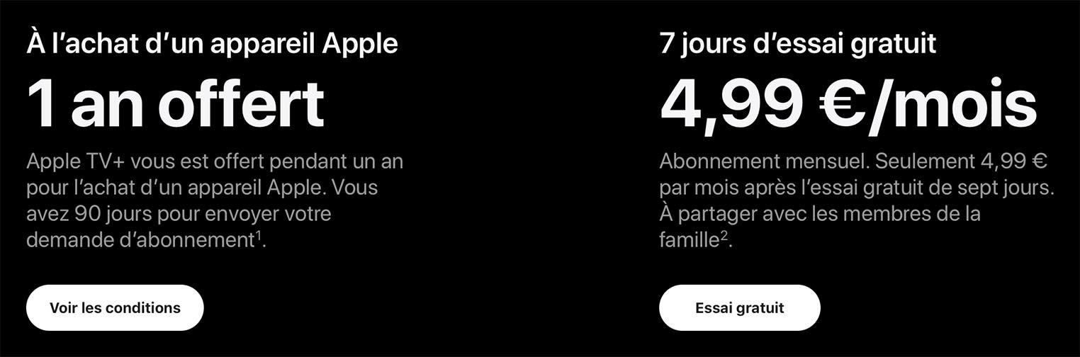 Apple TV+ tarif