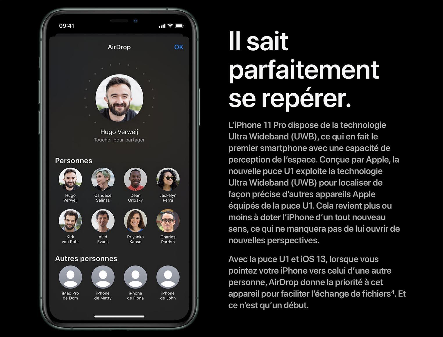 Apple U1 AirDrop