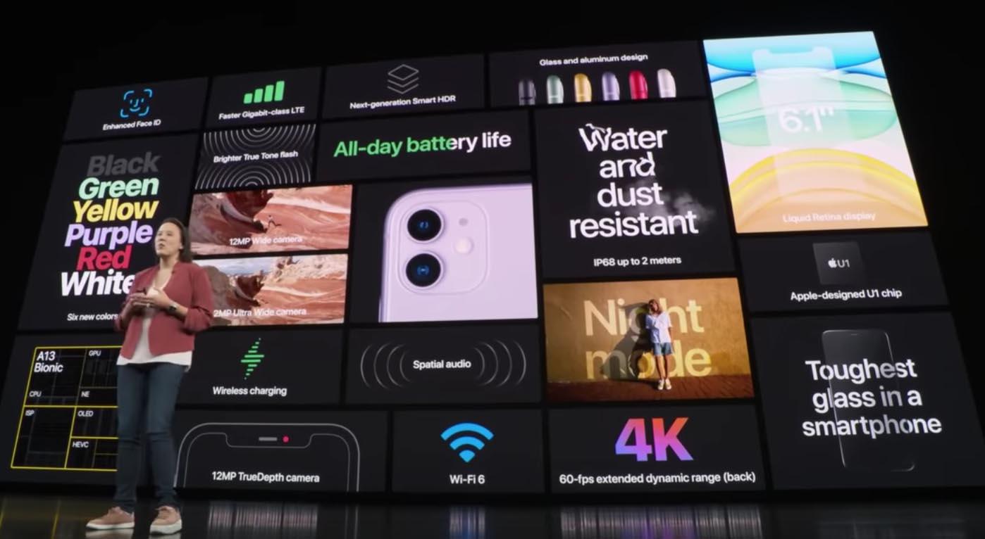 Nouveautés iPhone 11 Apple U1