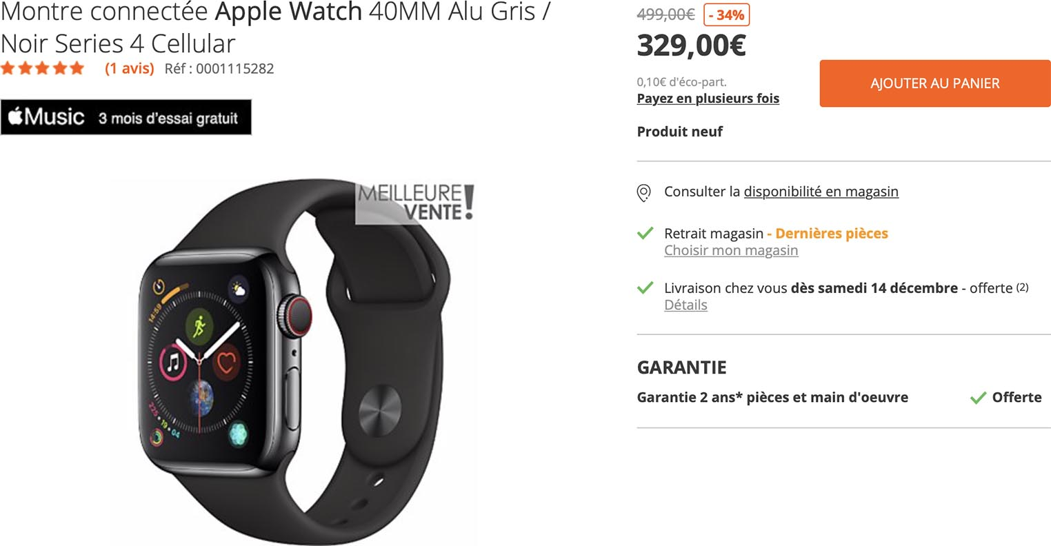 Apple Watch promo Boulanger