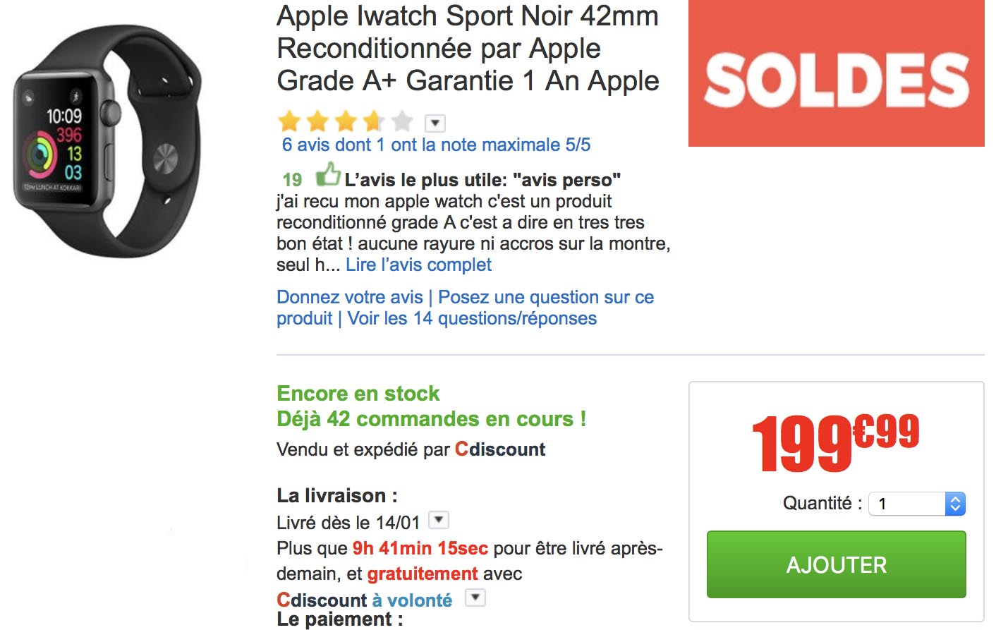 Apple Watch CDiscount