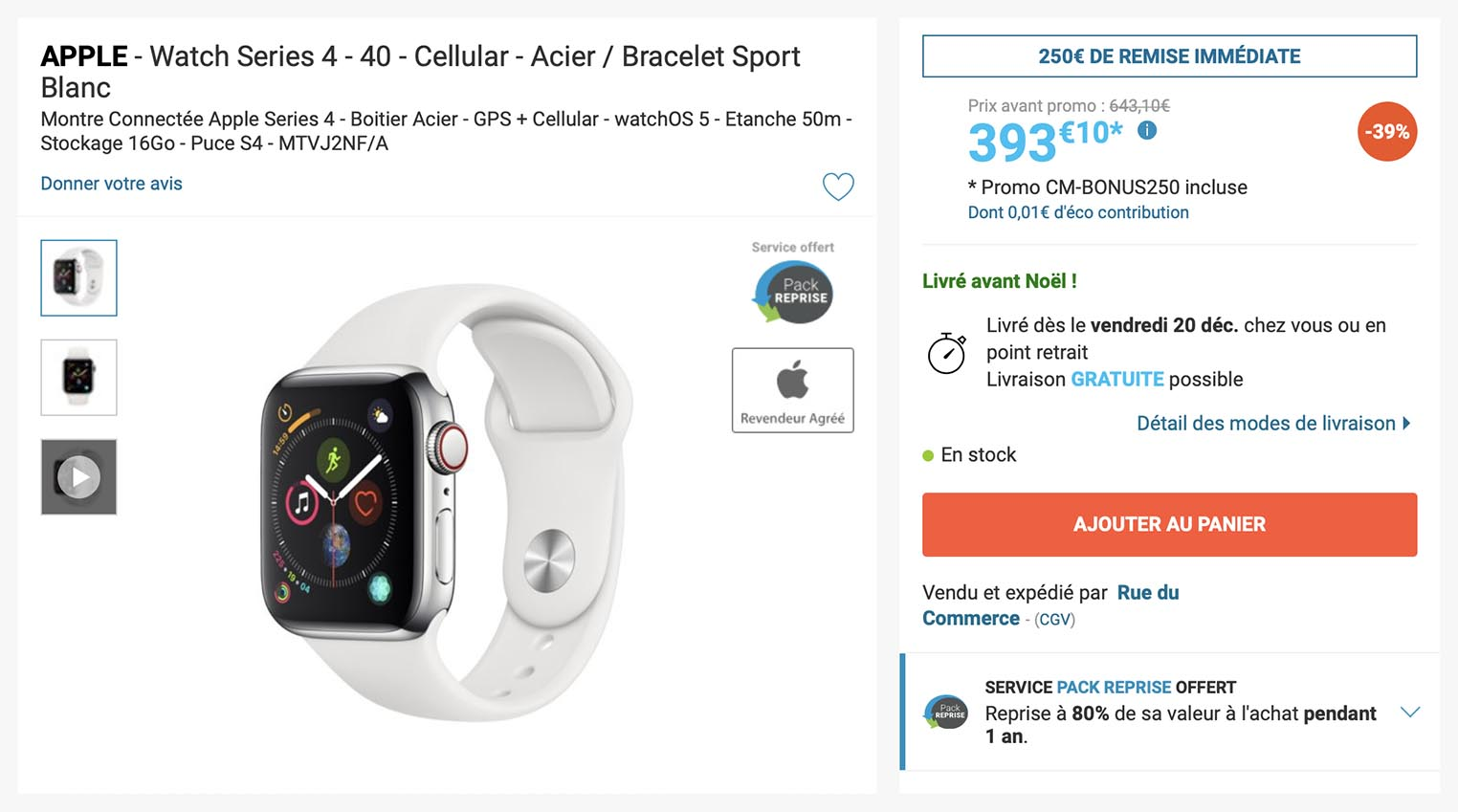 Apple Watch Series4 Rue du Commerce
