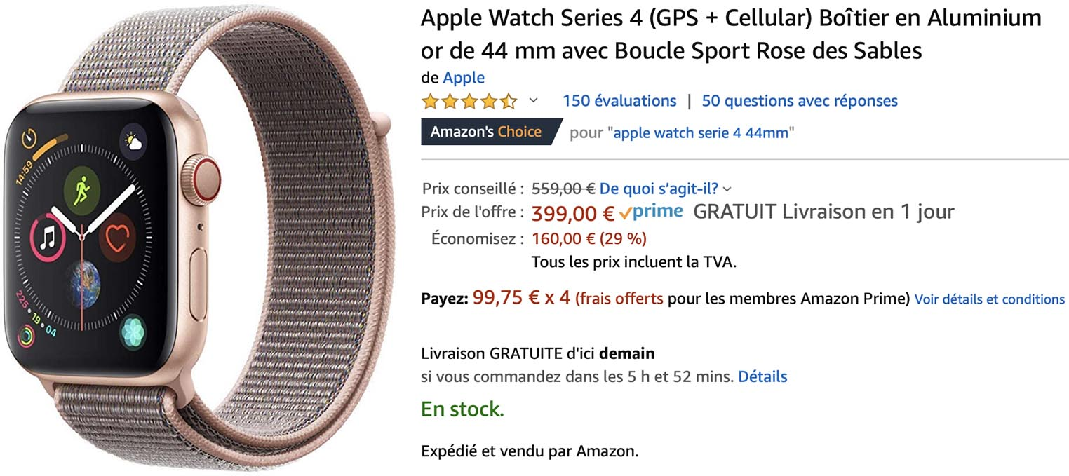 Apple Watch Series 4 promo Amazon