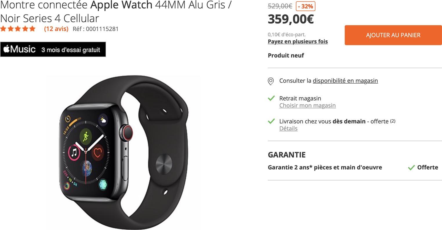 Apple Watch Series 4 Boulanger