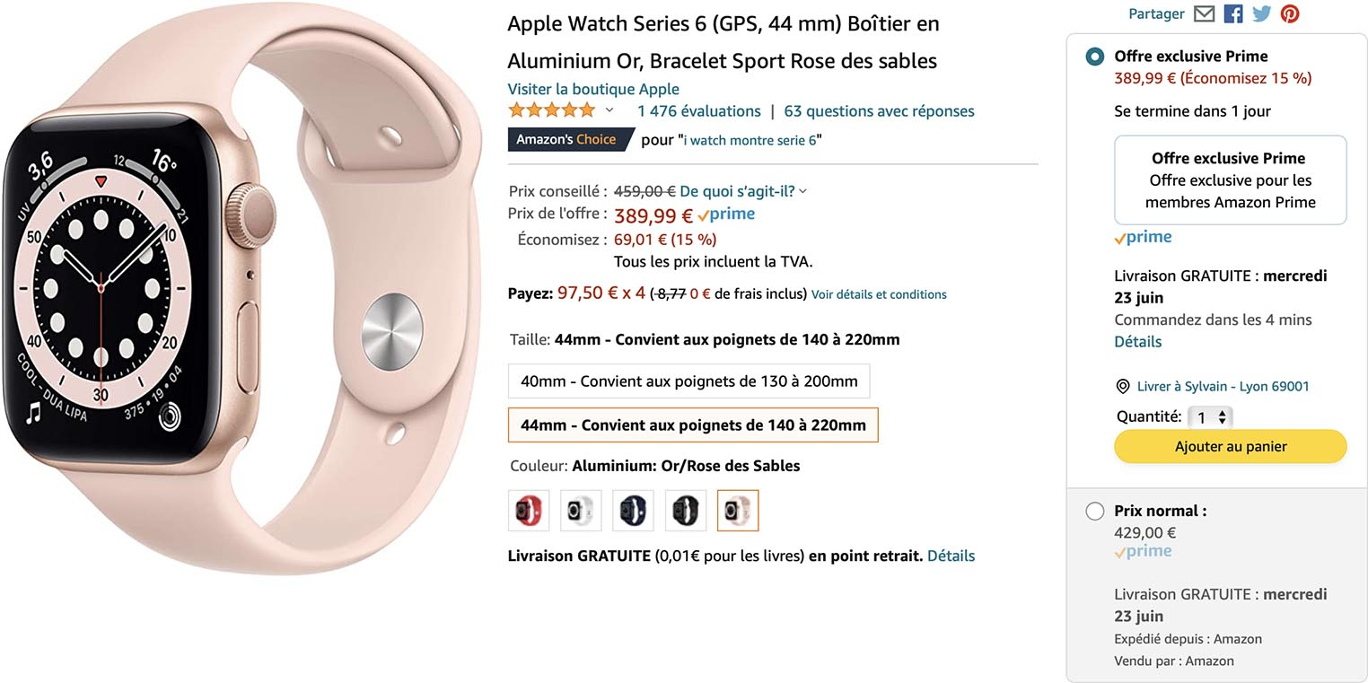 Apple Watch Series 6 Prime Day