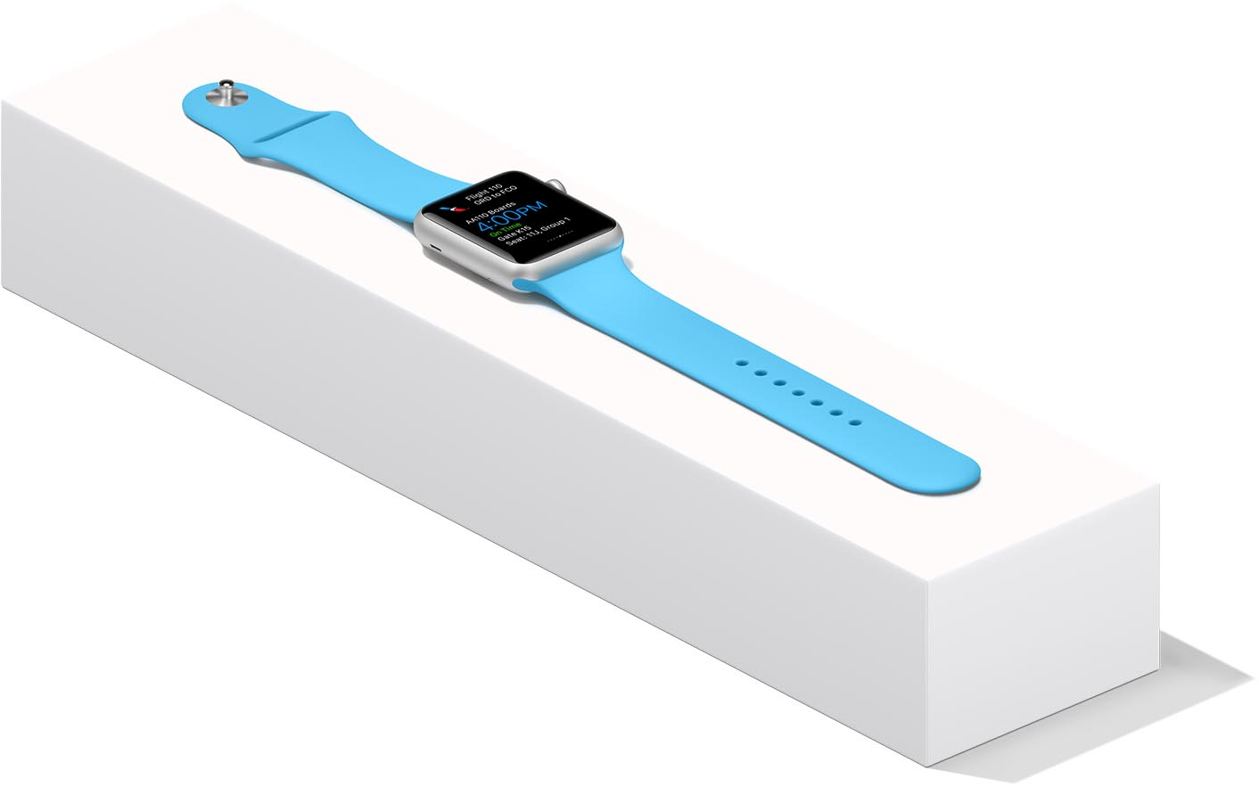 Apple Watch bracelet Sport bleu