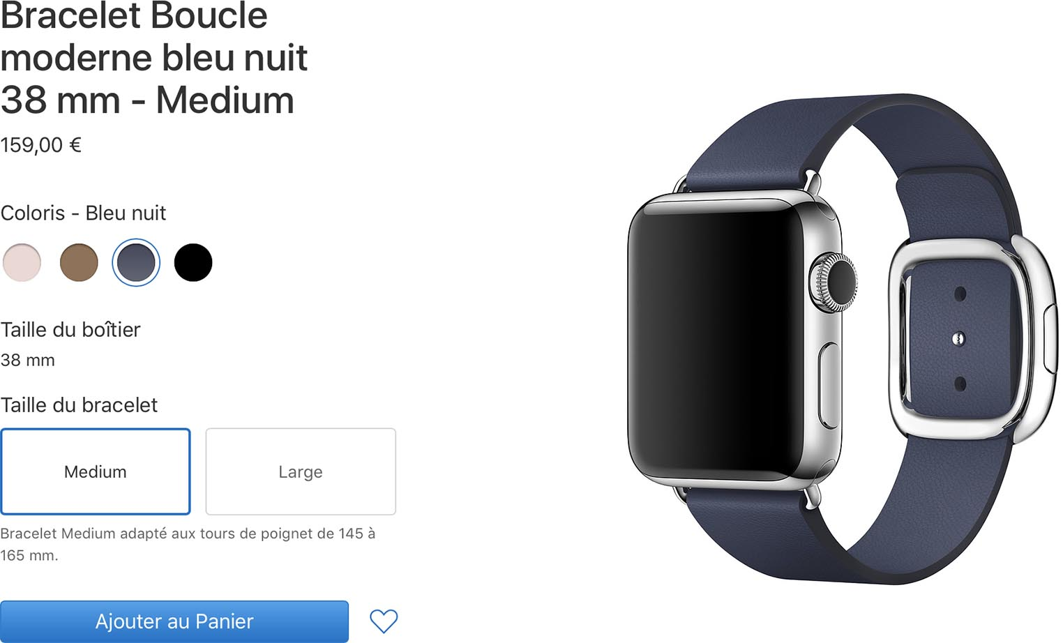 Apple Watch bracelet boucle moderne