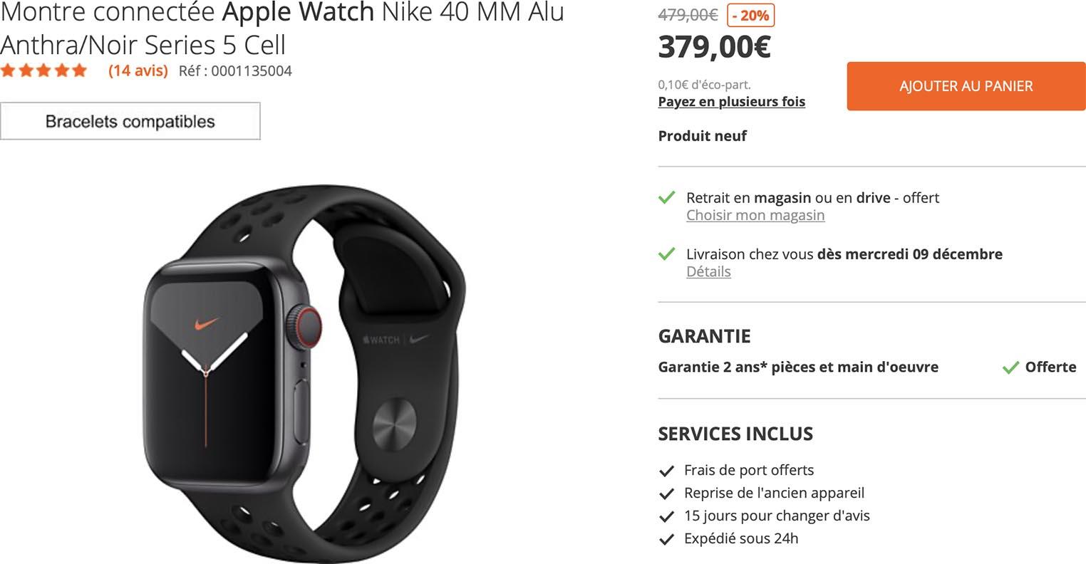 Apple Watch Series 5 Boulanger