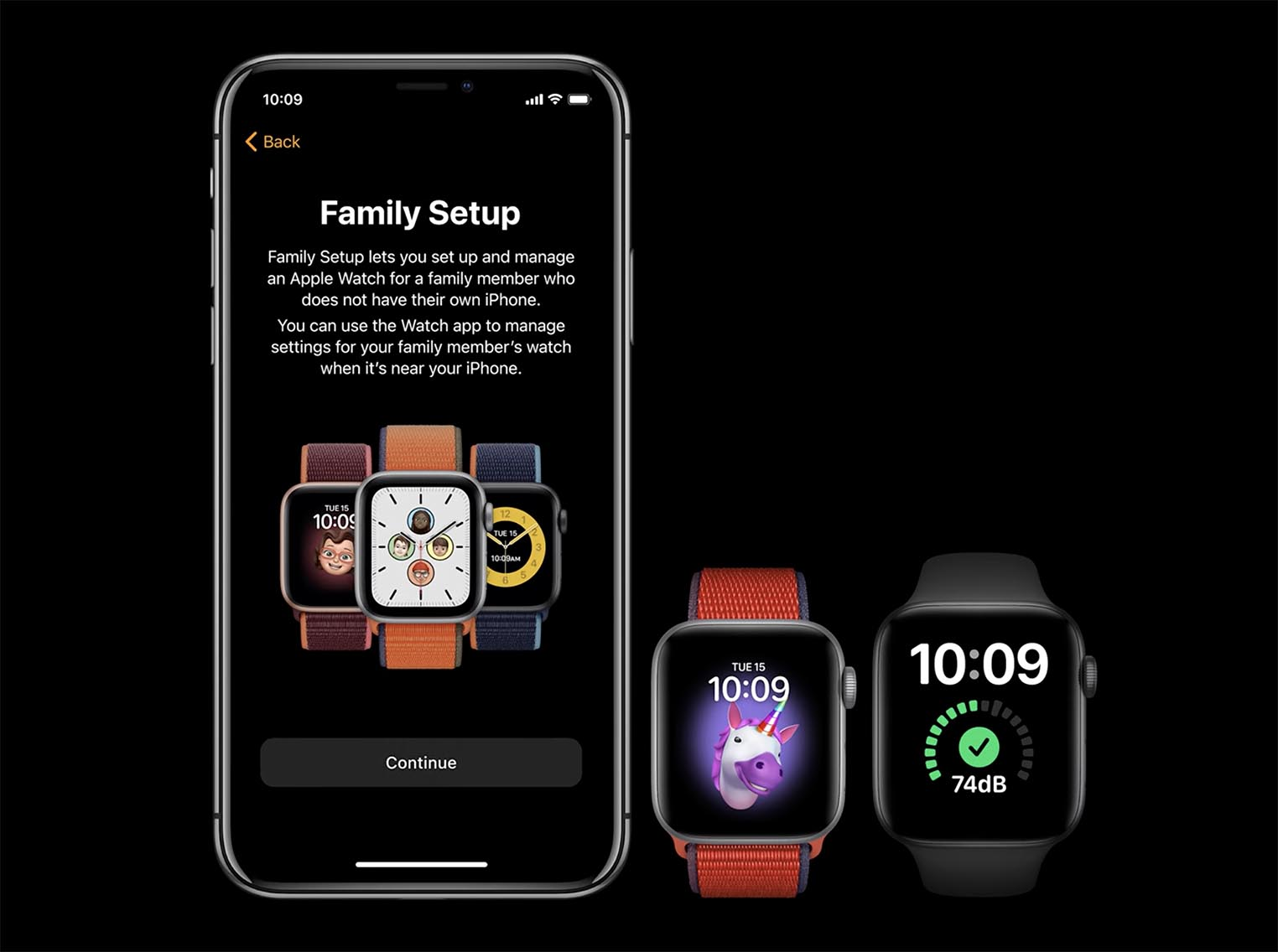 Apple Watch configuration familiale