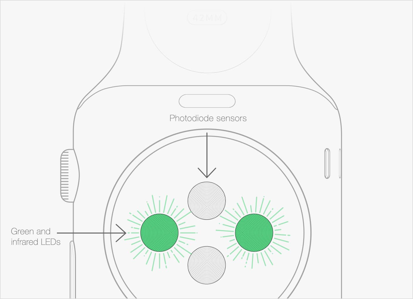 Capteurs Apple Watch