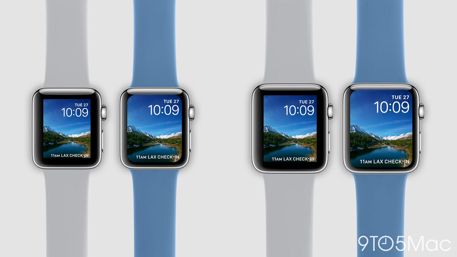 Apple Watch 4 rendu comparaison