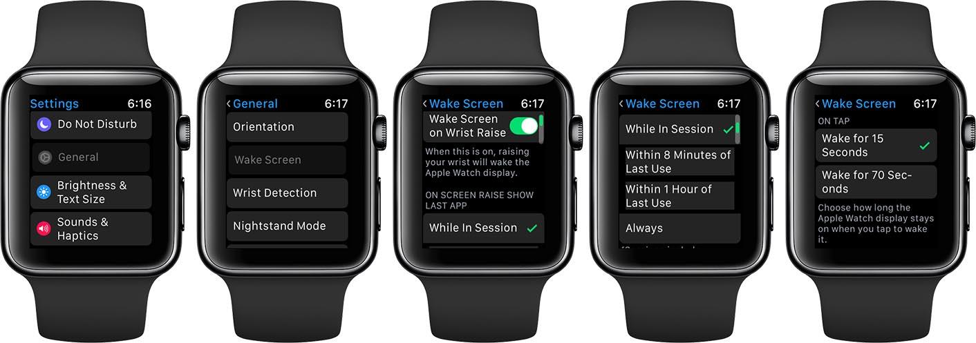 Apple Watch mode cinéma