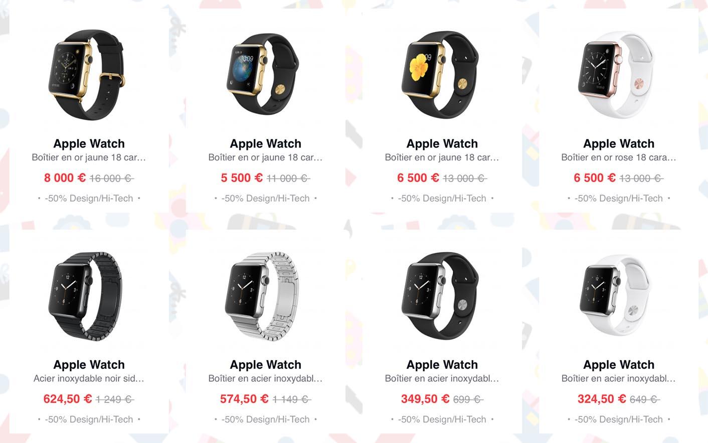 Apple Watch moitié prix
