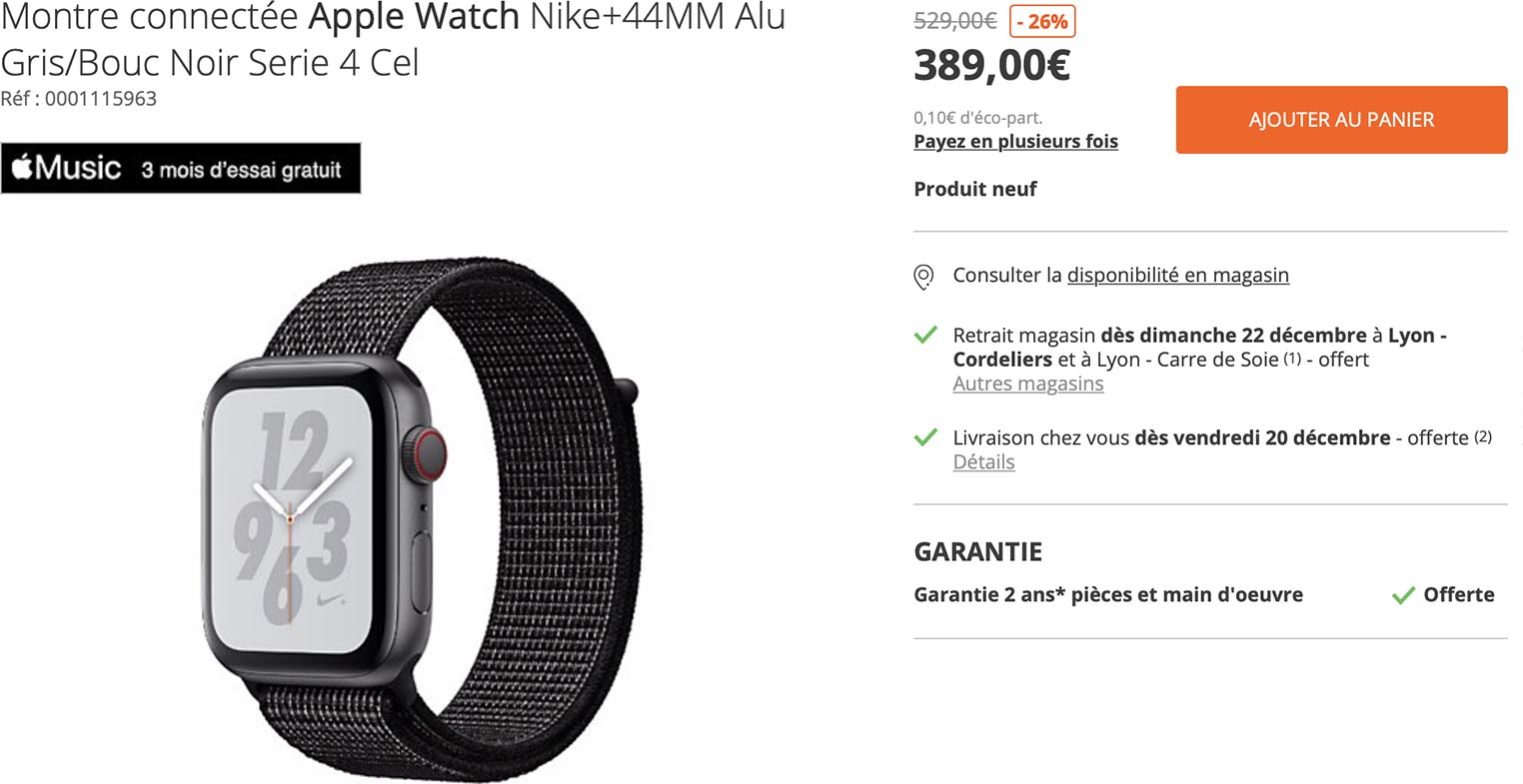 Apple Watch Nike+ Boulanger