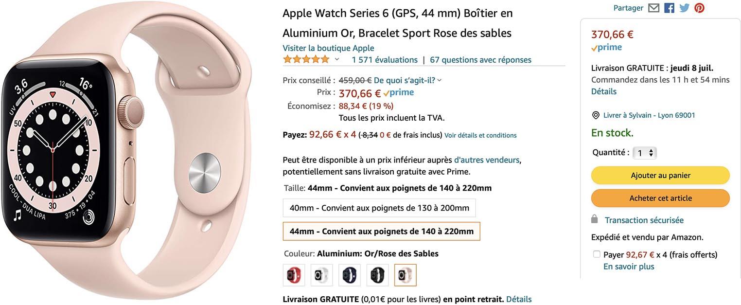 Apple Watch Series6 promo Amazon