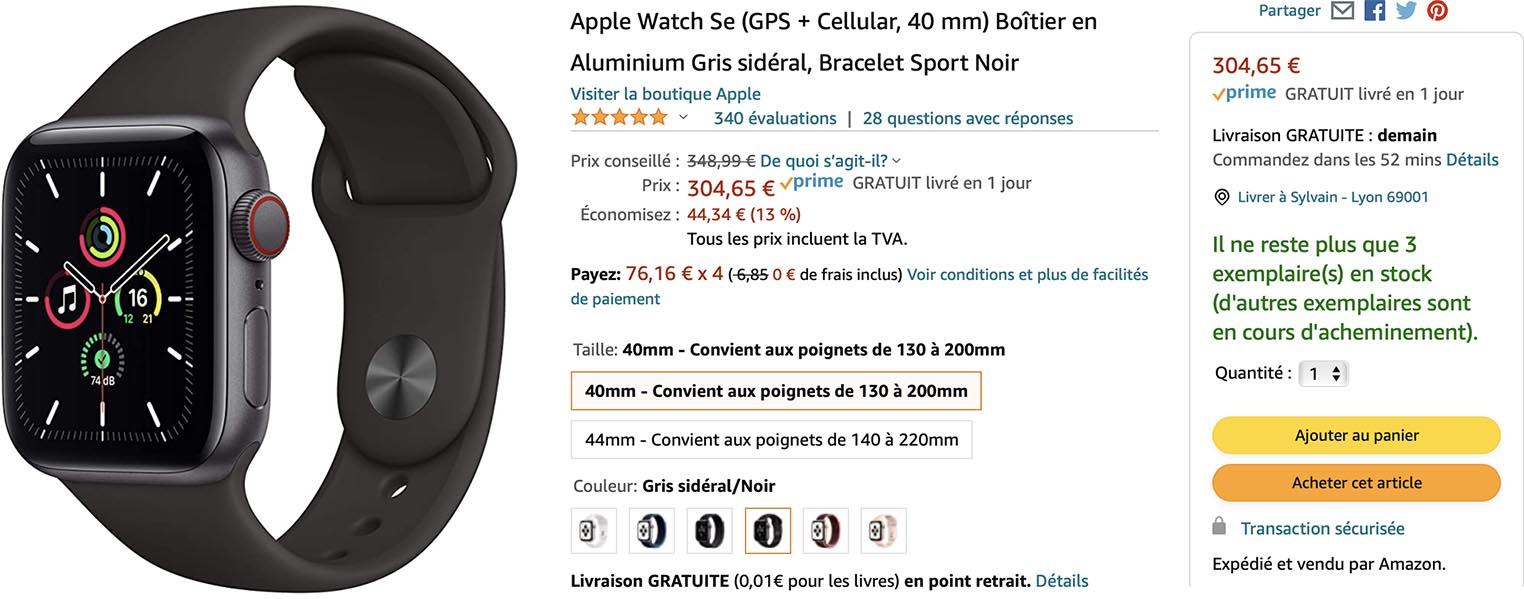 Apple Watch SE promo Amazon