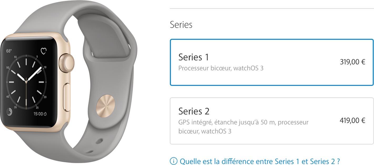Apple Watch Series 2 prix